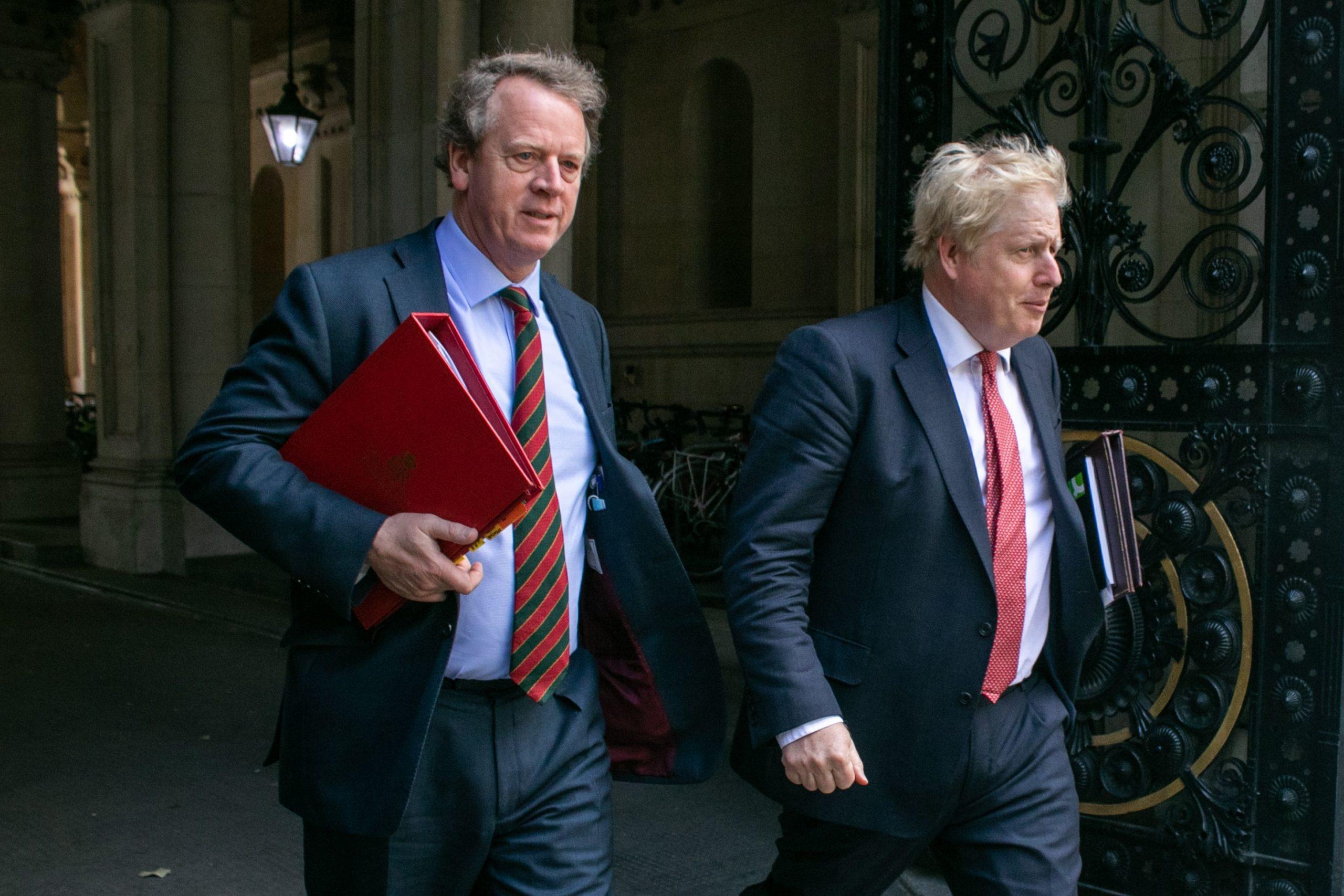 Scottish Secretary Alister Jack with PM Boris Johnson