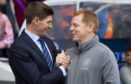 Rangers manager Steven Gerrard and Celtic manager Neil Lennon shake hands last season