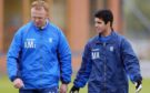 Alex McLeish, then the Rangers manager, is quizzed on tactics by Mikel Arteta at Murray Park in 2002