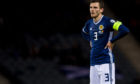 Andy Robertson in action for Scotland
