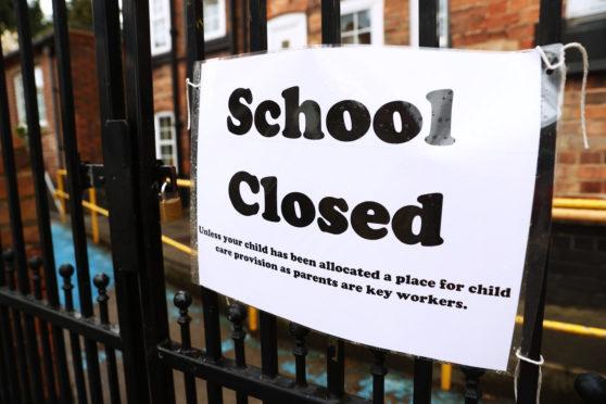 Signage outside a closed West Bridgford Infants School in Nottingham