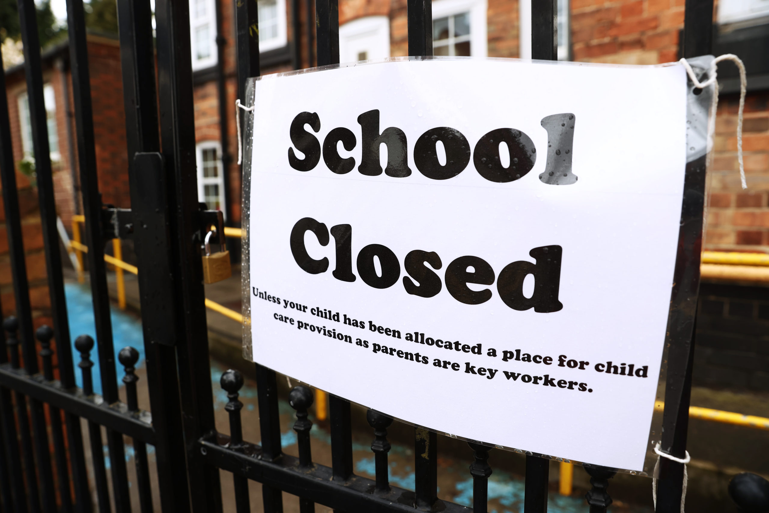 Signage outside a closed West Bridgford Infants School in Nottingham