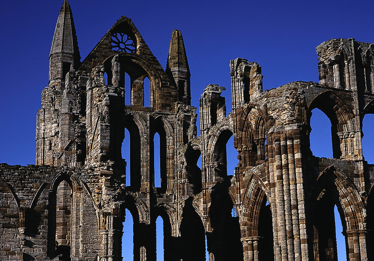 The famous 199 steps lead to Whitby Abbey