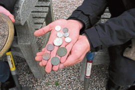 Historic coins found in the grounds of Gordonstoun School