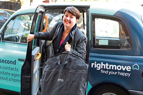 Former Scottish Conservative leader Ruth Davidson MSP arrives at the Apex Hotel in Edinburgh, after it was confirmed Scottish Conservative MP Douglas Ross will stand for leadership of the Scottish Conservatives following the sudden resignation of Jackson Carlaw after less than six months in the post.