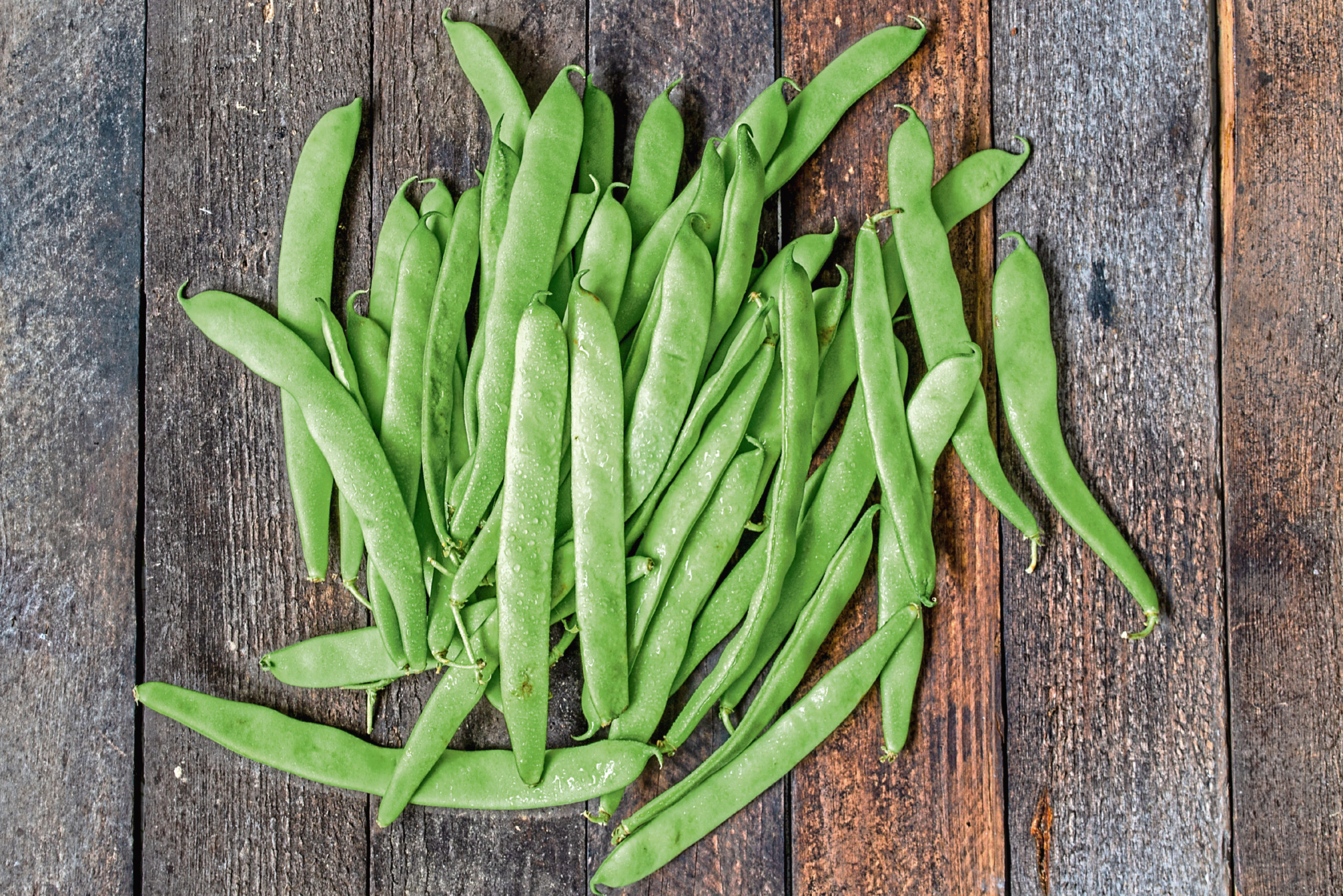 Pick runner beans before they begin to swell