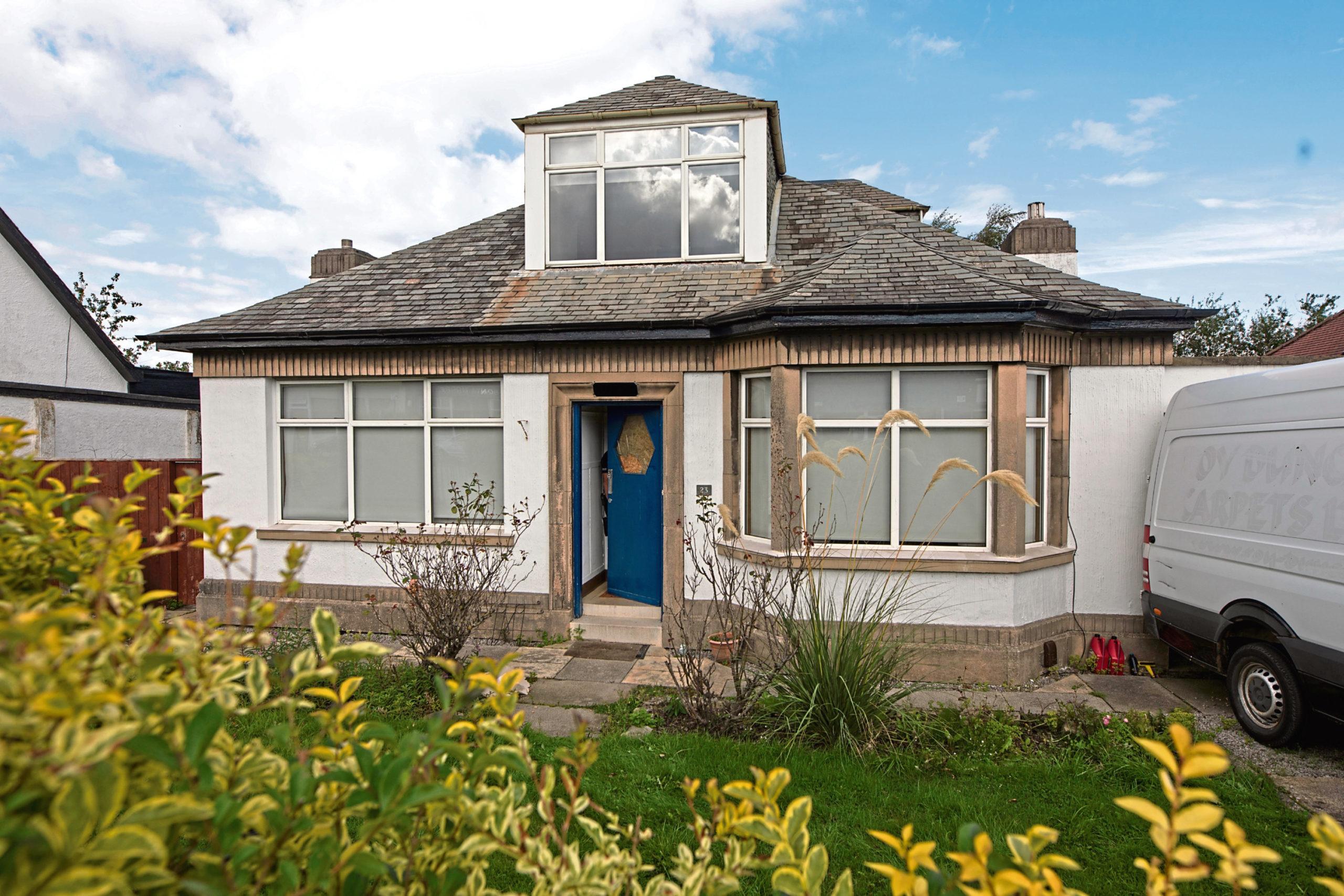 The Edinburgh bungalow raided by police