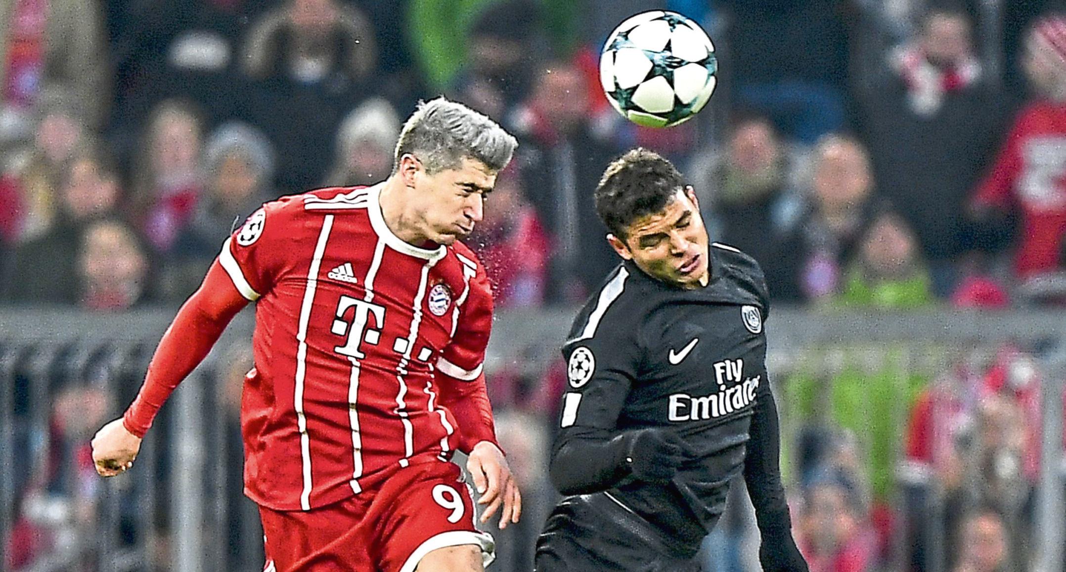 Robert Lewandowski and Thiago Silva clashed in the Champions League three years ago