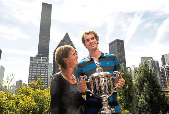Judy with Andy in NYC after the US Open in 2012