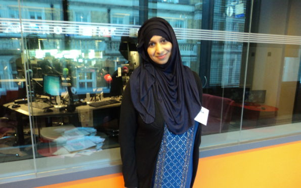 Tasnim made Scottish TV history appearing on-screen wearing a hijab