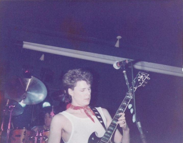 Big Country. The late Stuart Adamson's band, after he left Skids (Scotland's main punk band). It was common for bands of the period to work hard on the college/uni circuit. Their Hogmanay gigs at the Barrowland became the stuff of legend. c. Jim Barr
