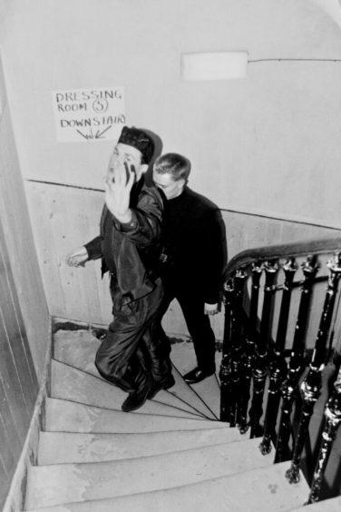 Billy McKenzie and Paul Haig, Edinburgh Wilkie House, 1986. c. John Lindsay