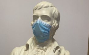 Fair fa' your honest, covered face… Robert Burns given his own mask as birthplace museum reopens to the public