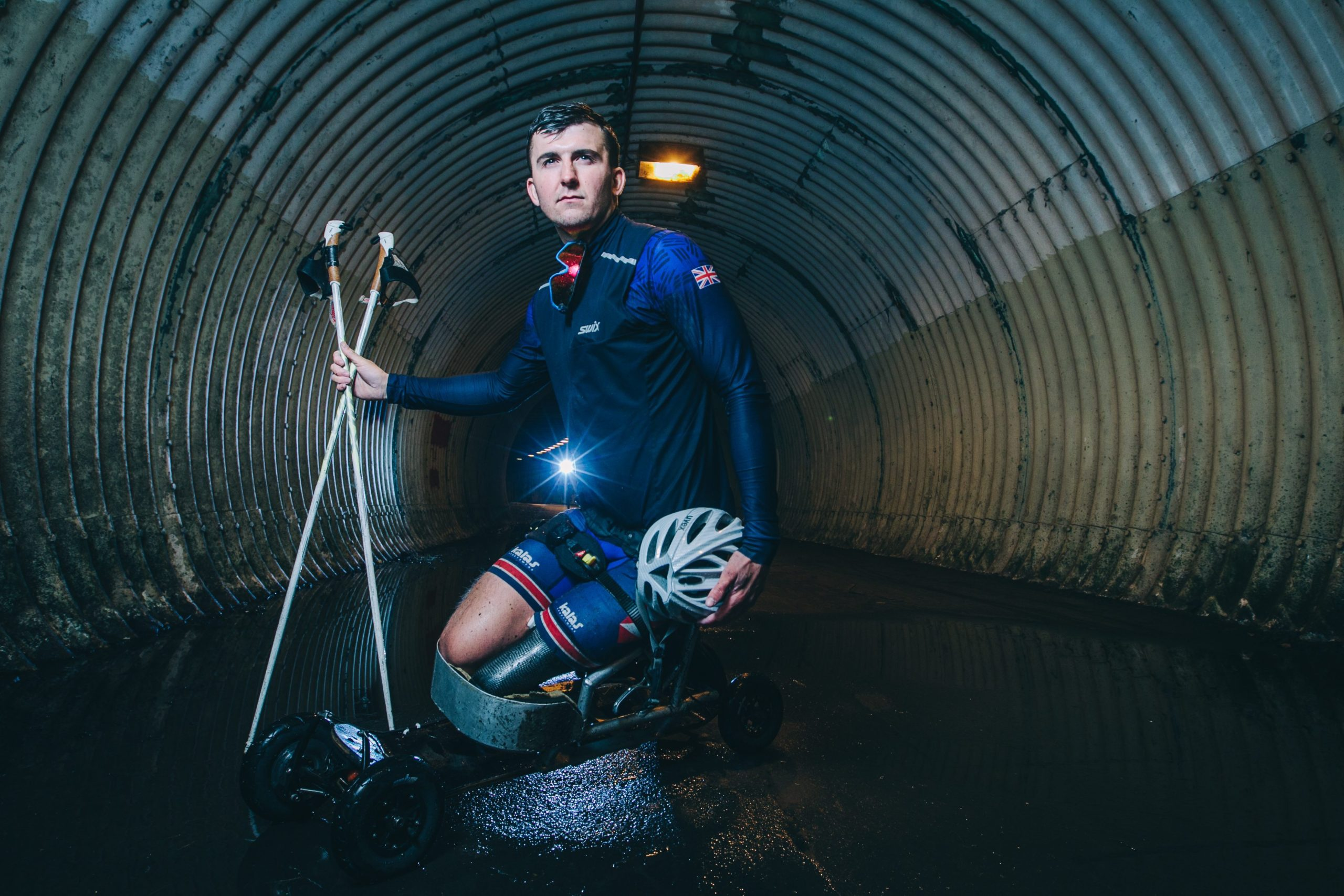 Callum Deboys pictured training in Alloway, Ayrshire, last week as he pursues Paralympics dream