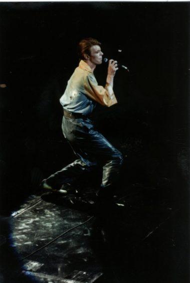 David Bowie, Glasgow Apollo, 1978. c. John Higney