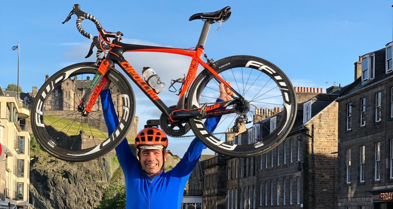 Davy Zyw with his Mario Cipollini bike