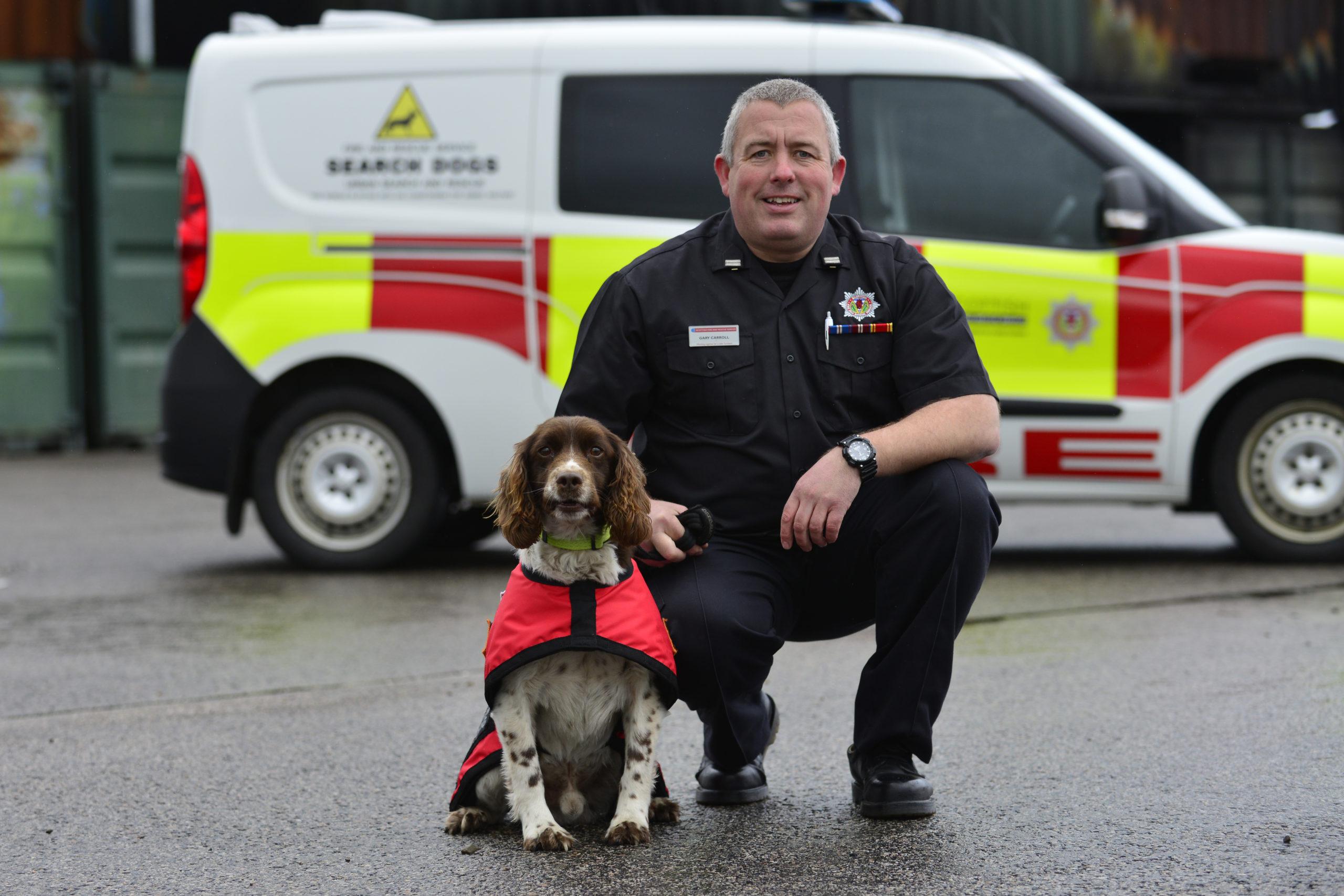 Rescue dog Diesel and handler Gary