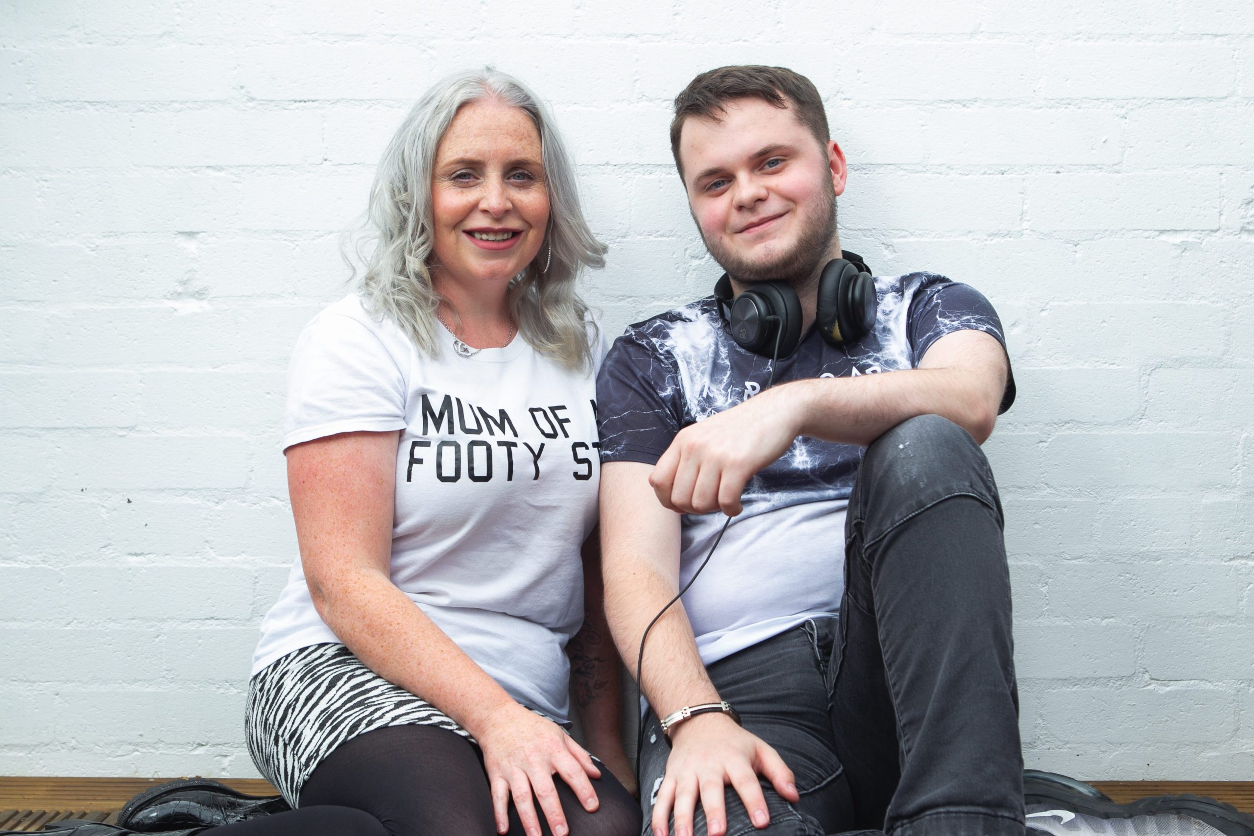 Dylan with  his mother Kileen at home in East Kilbride last week