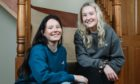 Friends Robyn Harvey and Emma Gaston at home in the Borders