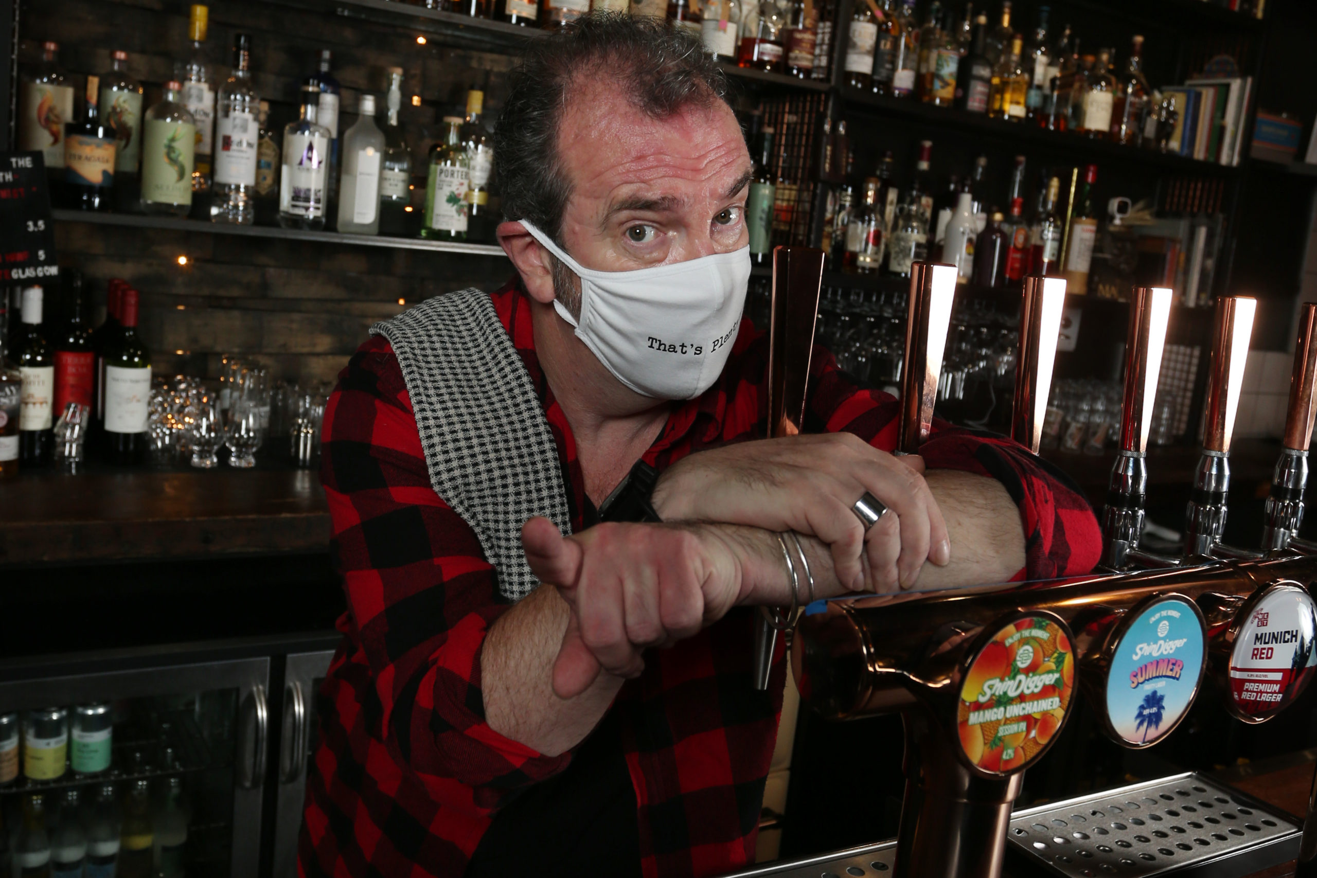 Actor Gavin Mitchell (Boaby the Barman from Still Game) has encouraged Scots to 'Stick With It'