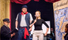 Ross Stenhouse, Aidan Edwards and Charlotte Hoather in Puffy McPuffer and the Crabbit Canals, a previous pop-up opera