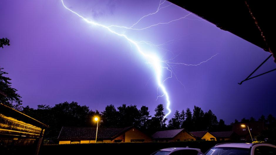 DC Thomson photographer Steve Brown caught this shot of lightning over Glenrothes