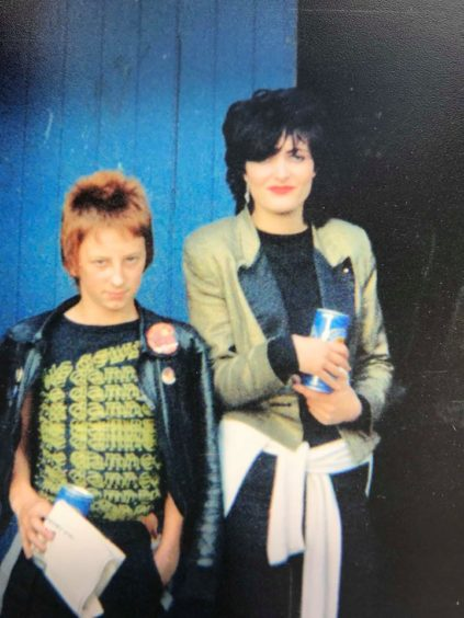 Siouxsie fan Terry Addison at Edinburgh  Clouds, 1978.