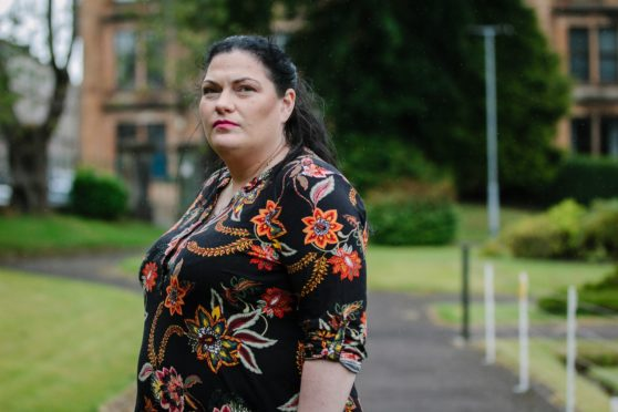Theresa Smith, whose daughter Sophia died at the QEUH, at home in Greenock
