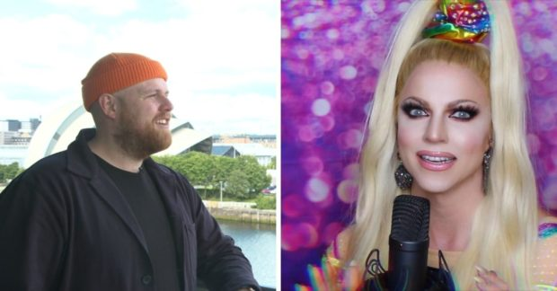 Tom Walker (l) and Courtney Act (r) are just some of the acts performing virtually in aid of STV's Children's Appeal tomorrow evening.