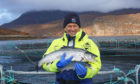 Atholl Duncan, chair of SSPO, at a Scottish salmon farm