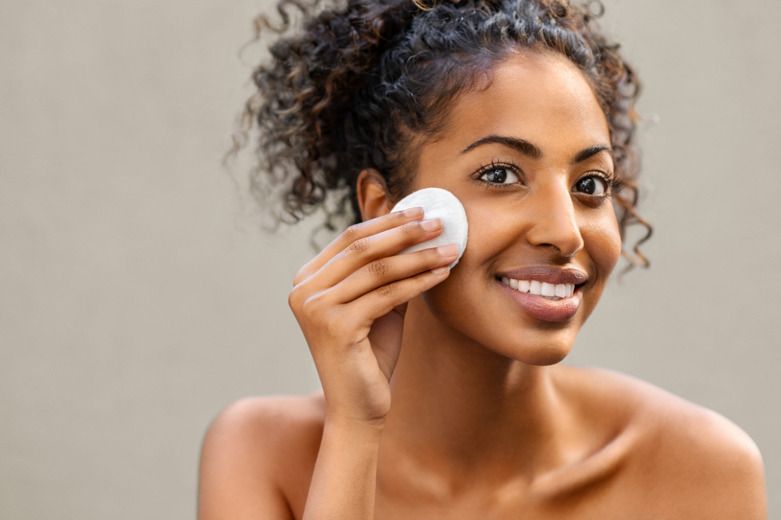 The first step is removing make-up, dirt and oil