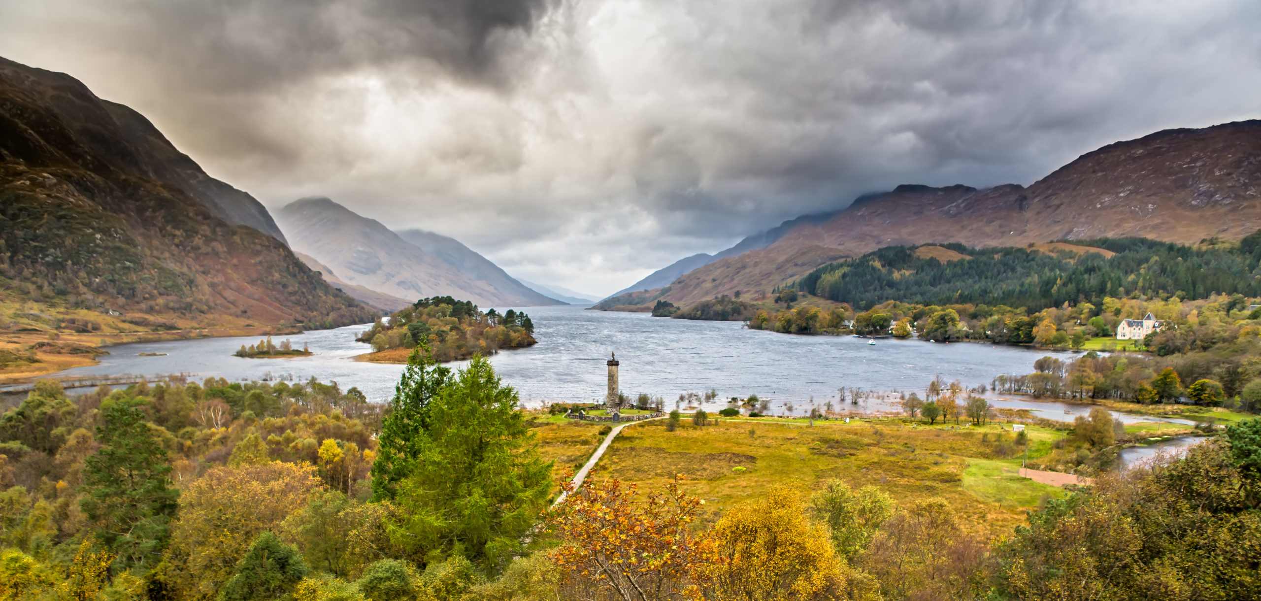 The Glenfinnan Monument at the head of Loch Shiel was built in 1815 and is linked to the slave trade in Jamaica