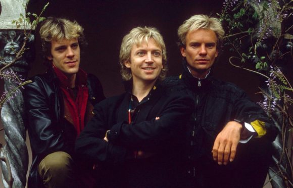 The Police: Stewart, Andy Summers and Sting in 1983