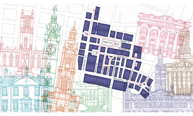 The illustrated walking tour