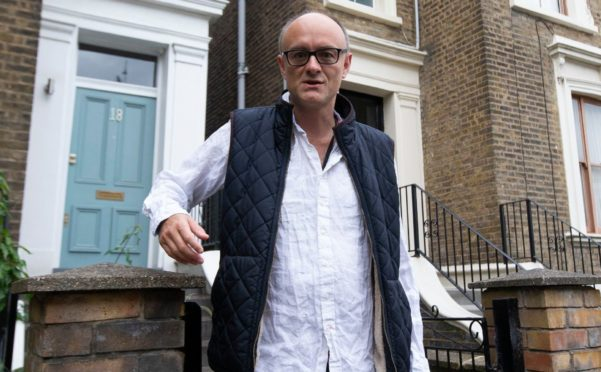 Special adviser to the Prime Minister Dominic Cummings leaves his London home. He broke lockdown rules earlier this year travelling from London to Durham.