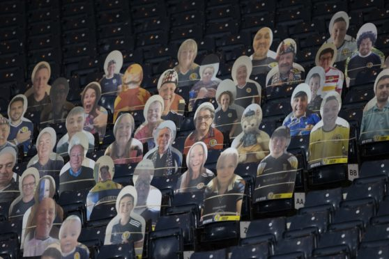 Steve Clarke's Cardboard Army were out in force at Hampden on Friday night