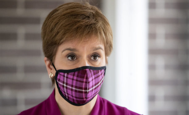 First Minister Nicola Sturgeon during a visit to the Sighthill NHS Community Treatment and Assessment Centre in Edinburgh