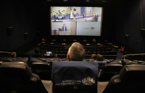 A mock trial is shown on screen at the Odeon complex in Edinburgh