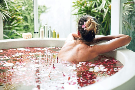 Living the dream: Stresses drain away in a hot, calming bath