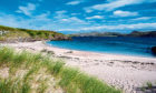 The gorgeous white sands and azure blue seas of Handa