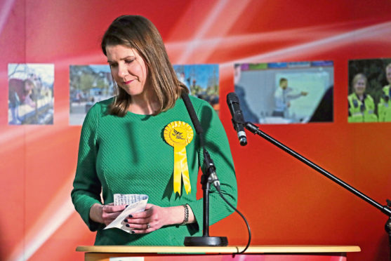 Jo Swinson loses her seat in last year's election