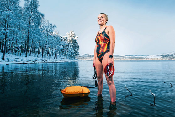 Wild swimmer, Laura Ormiston, who has Elhers Danlos Syndrome.
