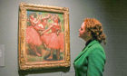 Degas' Red Ballet Skirts from Burrell collection.