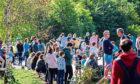 People enjoy the sun at Kelvingrove Park, Glasgow yesterday