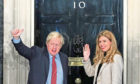 Prime Minister Boris Johnson and his girlfriend Carrie Symonds.