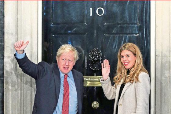Boris Johnson and  Carrie Symonds.