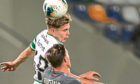 James Forrest in action in Riga before picking up the knock that will now sideline him