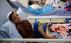 A boy hurt in 2018 bombing of bus in Yemen