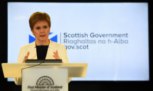 "Scotland's First Minister Nicola Sturgeon said she would not hold people ""like cattle in a pen"" as reports say remote Scottish islands are being considered to process asylum seekers."