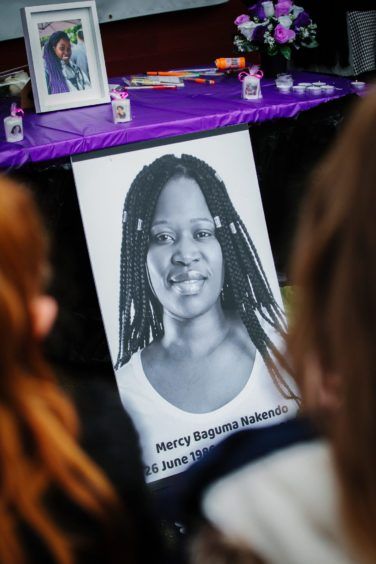 A vigil held for Mercy Baguma